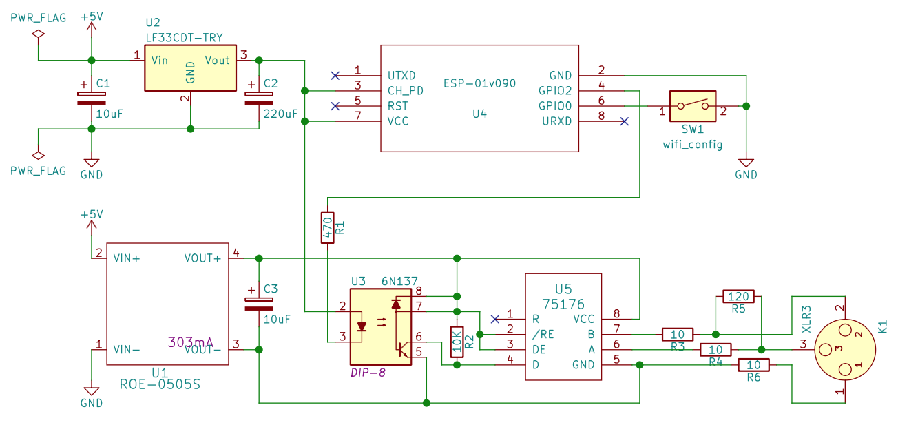 f0dmx kicad schematics