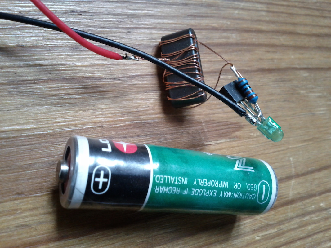 Electronics F0blog Led Wiring Circuit Diagram In Addition Joule Thief Schematic Joulethief 1